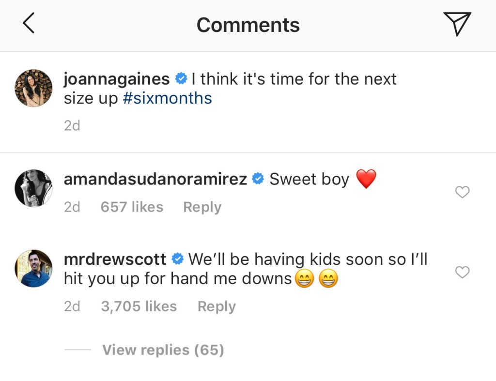 drew-scott-comment-on-joanna-gaines-instagram copy