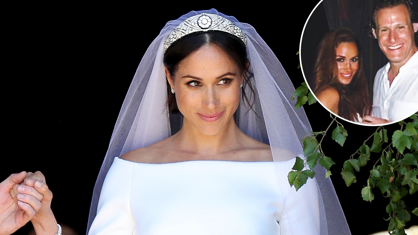 see meghan markle s first wedding dress see meghan markle s first wedding dress