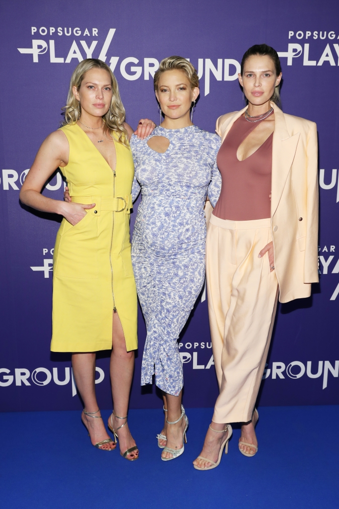 (L-R) Erin Foster, Kate Hudson and Sara Foster attend day 1 of POPSUGAR Play/Ground