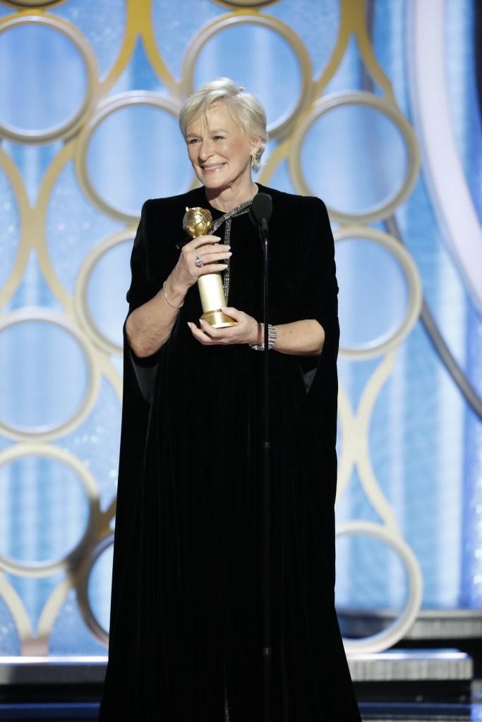 Glenn Close Golden Globes