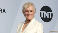 Glenn Close poses in the press room at the 25th annual Screen Actors Guild Awards at The Shrine Auditorium
