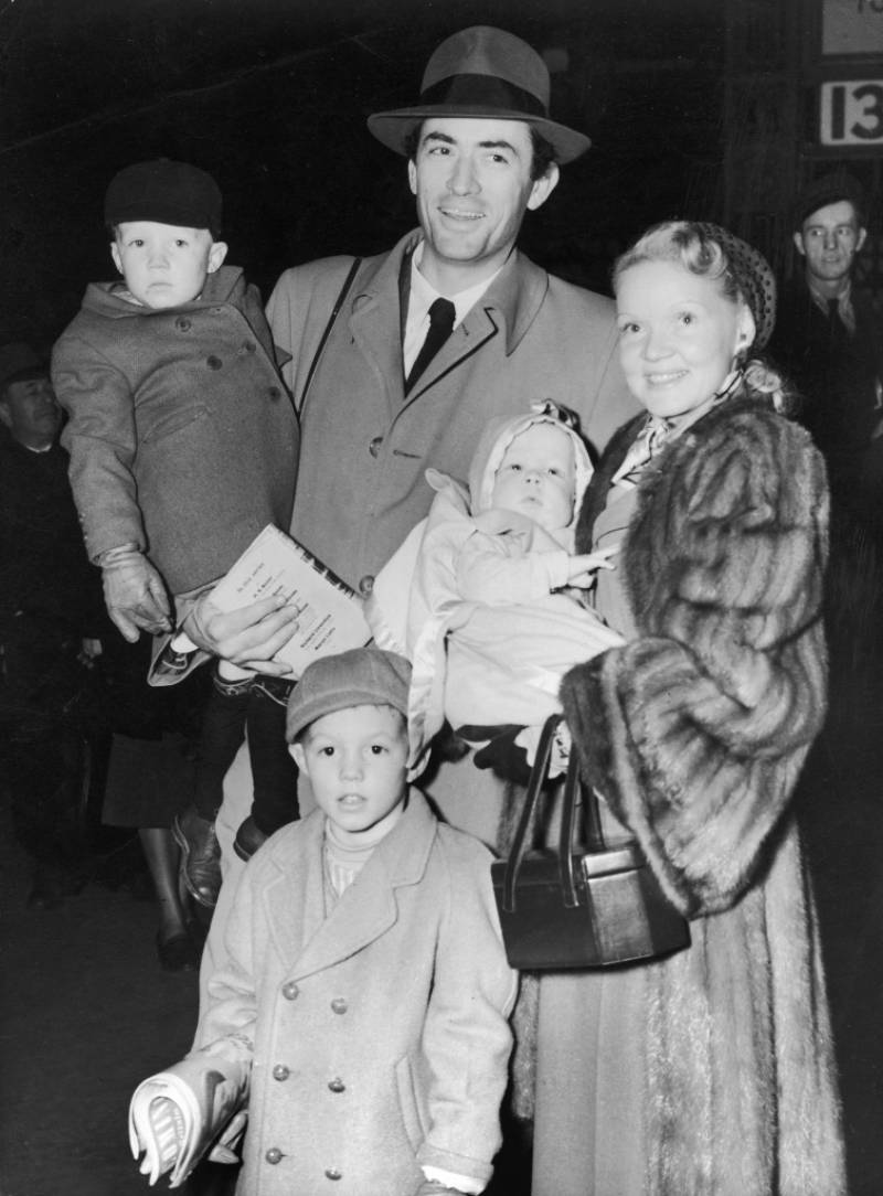Gregory Peck Family