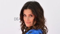idina-menzel-tribeca-talks-blue-flower-top