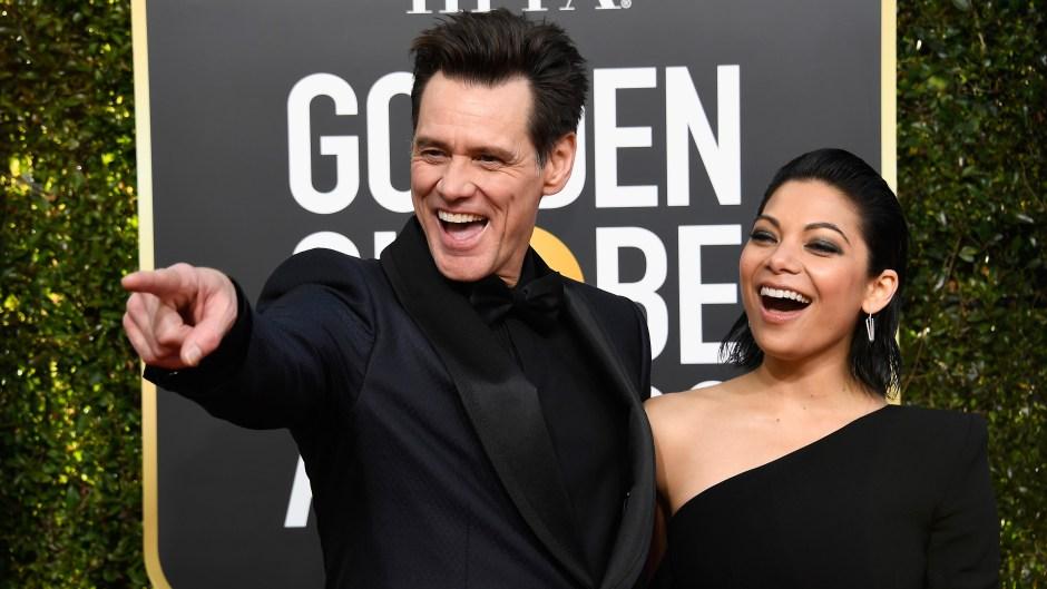 Jim Carrey Girlfriend Golden Globes
