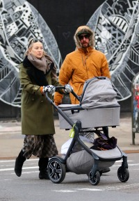 Kate Hudson is all smiles while out with boyfriend Danny Fujikawa and daughter Rani in New York City.