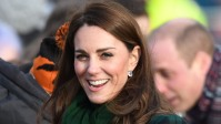 Catherine, Duchess of Cambridge greets members of the public