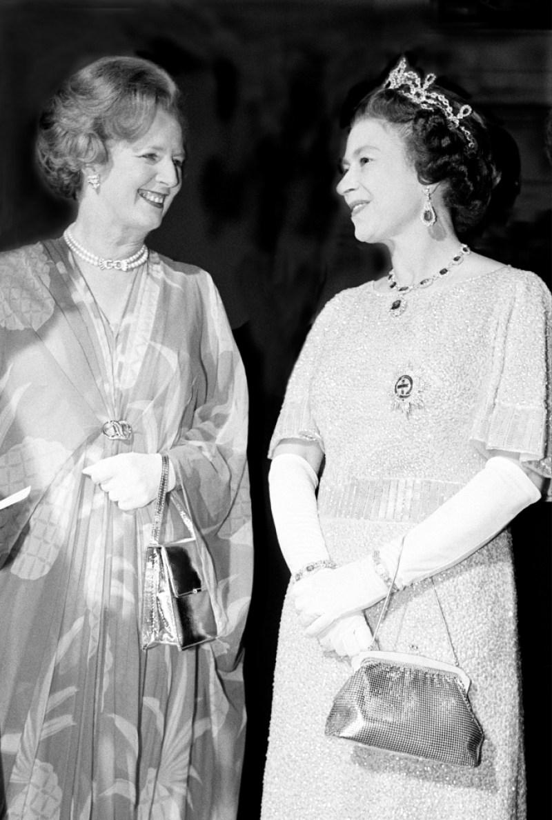 Margaret Thatcher Queen Elizabeth