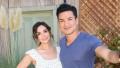 "Actress Courtney Lopez (L) and TV Personality Mario Lopez (R) visit Hallmark's ""Home"