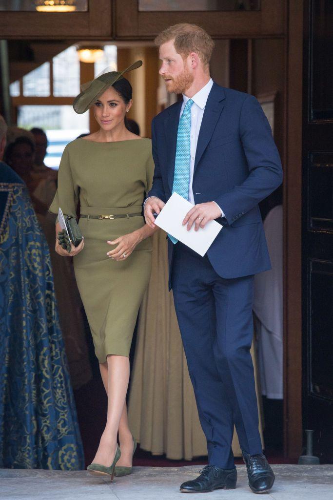 meghan-markle-green-dress-prince-louis-christening.