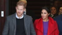 Meghan Markle and Prince Harry depart Hamilton Square in Birkenhead
