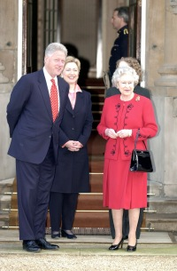 Queen With President Clinton