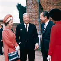 Queen Elizabeth with Richard Nixon and Others