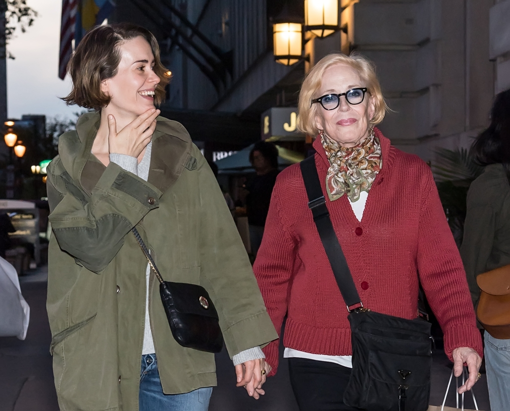Actresses Sarah Paulson and Holland Taylor are seen out and about on October 21, 2017 in Philadelphia, Pennsylvania