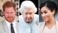 Prince Harry Queen Elizabeth Meghan Markle