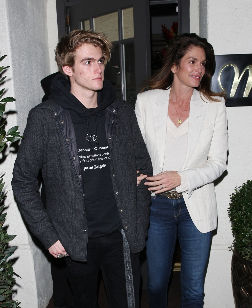 Cindy Crawford celebrates her 53rd birthday party with husband Rande Gerber and son Presley