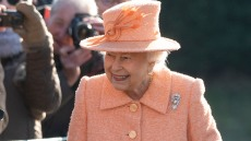 Queen Elizabeth Attends Sunday Service At St Peter & St Paul Church In West Newton