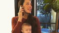 Joanna Gaines and her baby Crew