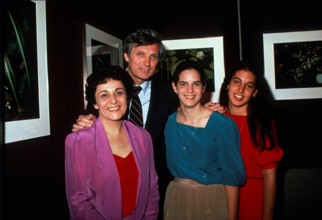 Alan Alda, wife Arlene and daughters circa 1981 in New York City.