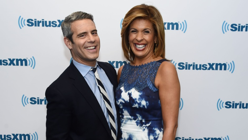 Andy Cohen and Hoda Kotb visit the SiriusXM Studio