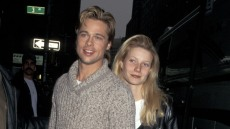 Brad Pitt and Gwyneth Paltrow on the set of 'The Devil's Own' in 1996