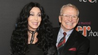 "Cher and Bob Mackie pose at the opening night of the new musical ""The Cher Show"" on Broadway"