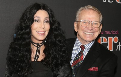 """Cher and Bob Mackie pose at the opening night of the new musical """"The Cher Show"""" on Broadway"""