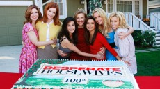 The cast of 'Desperate Housewives' celebrate the 100th episode of the series.