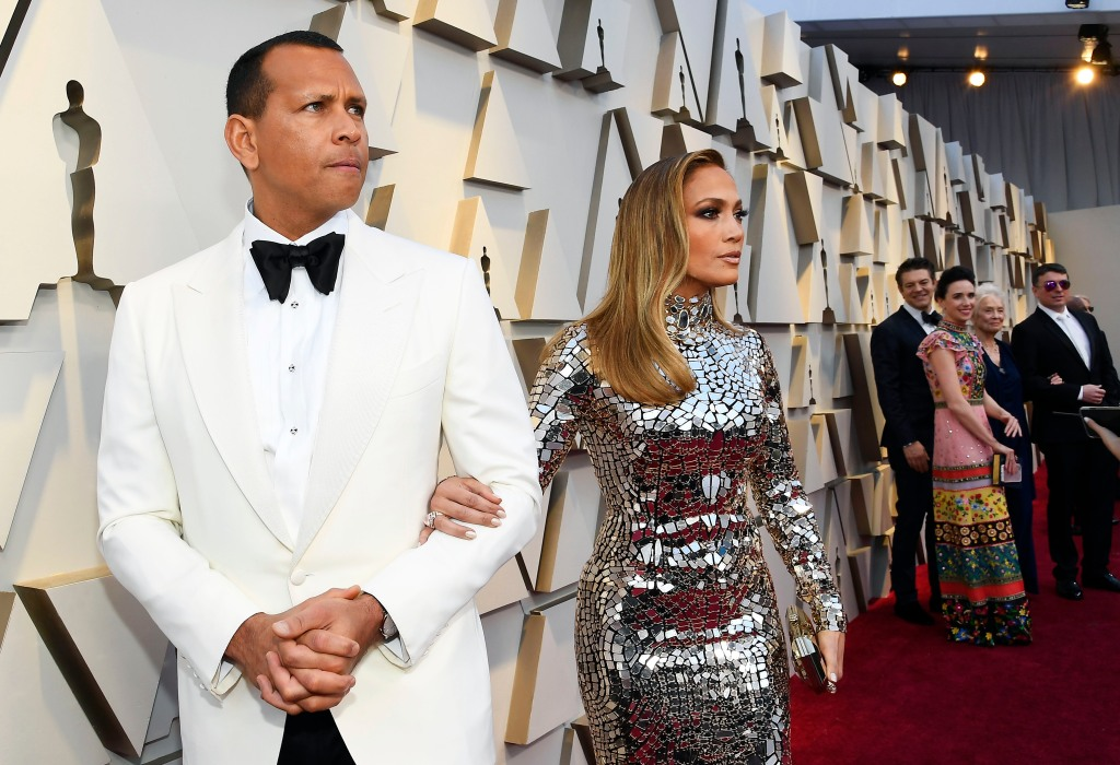 Jennifer Lopez and Alex Rodriguez attend the 91st Annual Academy Awards