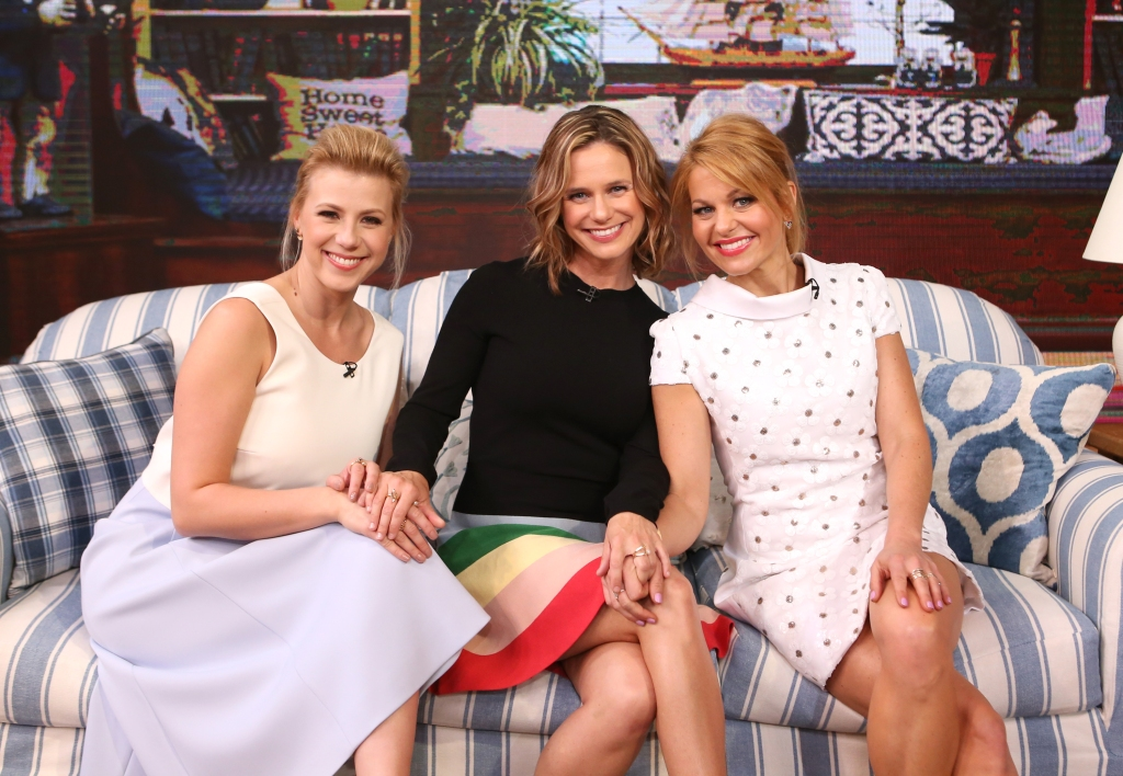"""Candace Cameron Bure, Jodie Sweetin and Andrea Barber of """"Fuller House"""" are guests on """"Good Morning America,"""""""