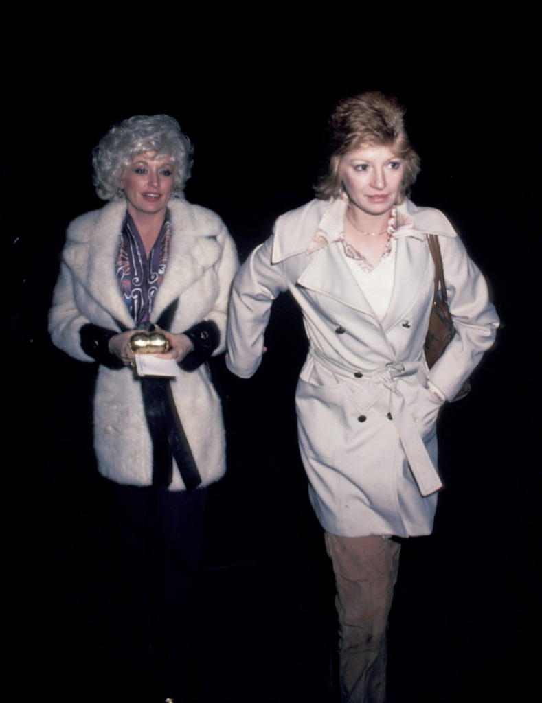 Dolly Parton and Judy Ogle arriving at Nirvana in New York