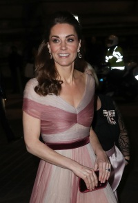 Catherine, Duchess of Cambridge, patron of 100 Women in Finance's Philanthropic Initiatives, attends a Gala Dinner in aid of 'Mentally Healthy Schools' at the
