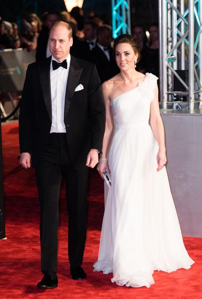 Kate Middleton Prince William BAFTAs