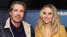Actors Dax Shepard and Kristen Bell visit the SiriusXM Studios