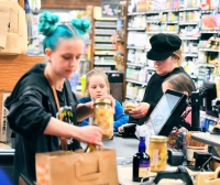 Lisa Marie Presley spotted grocery shopping at Whole Foods with her daughters Finley and Harper