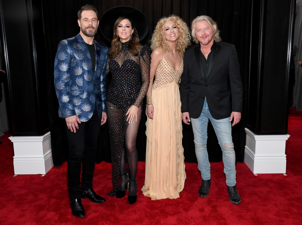Jimi Westbrook, Karen Fairchild, Kimberly Schlapman, and Philip Sweet of Little Big Town attend the 61st Annual GRAMMY Awards