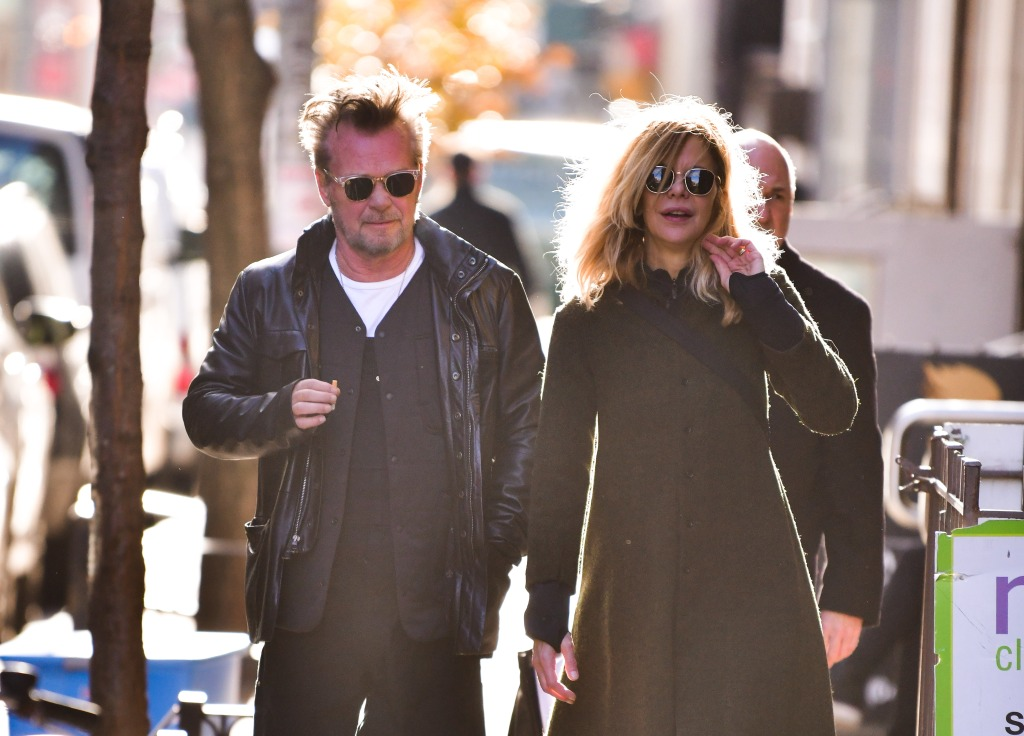 John Mellencamp and Meg Ryan seen on the streets of Manhattan