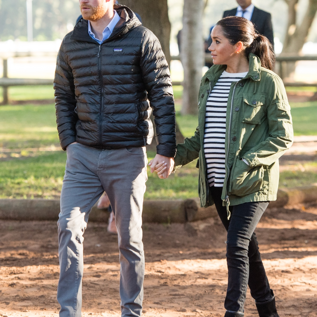 Animal-Lovers Prince Harry and Meghan Markle Dress-Down in Morocco to Learn About Equine Therapy — See the New Pics!