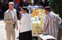 Prince Harry, Duke of Sussex and Meghan, Duchess of Sussex visit the Andalusian Gardens in Morocco