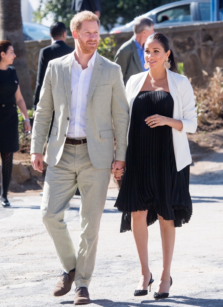 Prince Harry, Duke of Sussex and Meghan, Duchess of Sussex visit the Andalusian Gardens