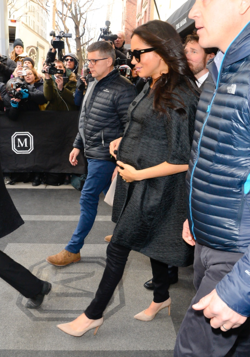 Meghan Markle, Duchess of Sussex seen leaving The Mark Hotel in NYC