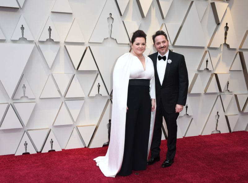 US actress Melissa McCarthy and her husband Ben Falcone arrives for the 91st Annual Academy Awards