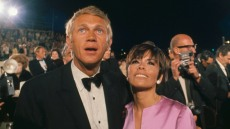 Actor Steve McQueen and his wife, Neile Adams, arrive for the Academy Awards.