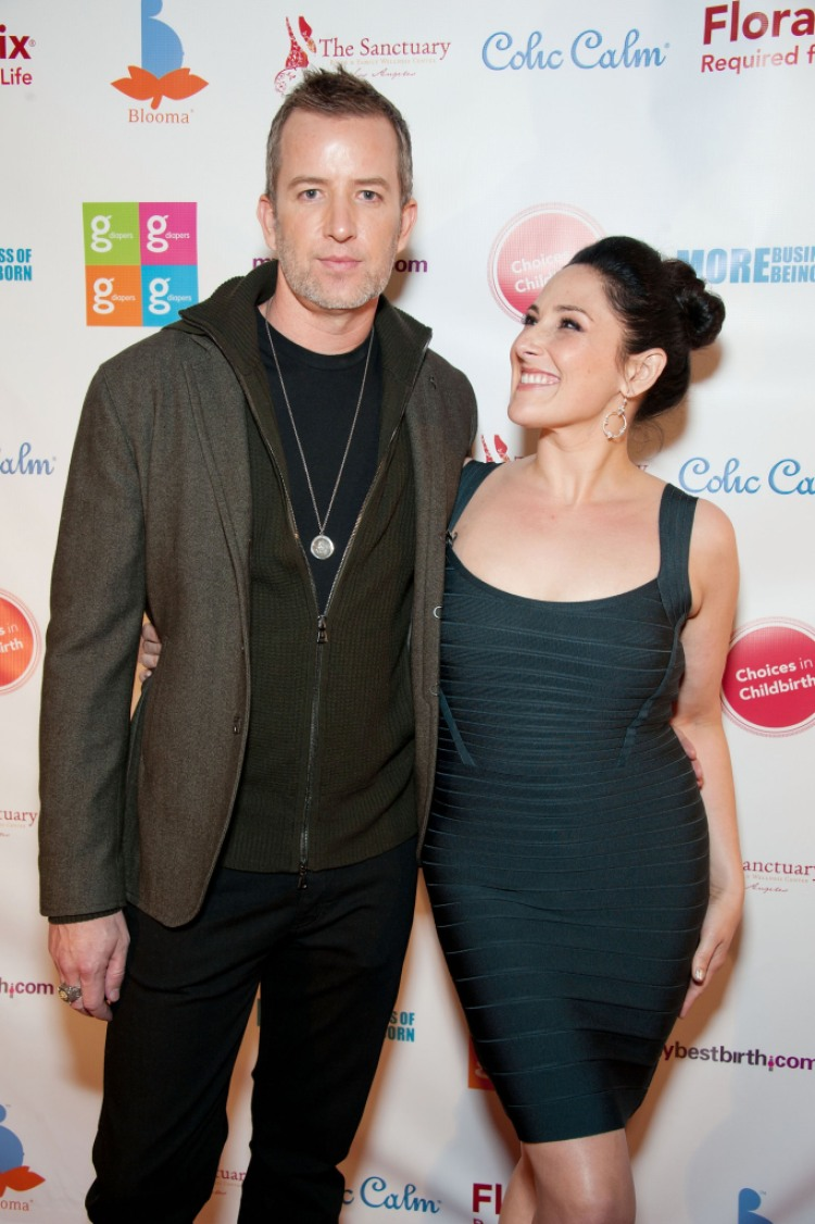 "Actress Ricki Lake and her fiance Christian Evans arrive at the Los Angeles premiere of ""More Business of Being Born"""