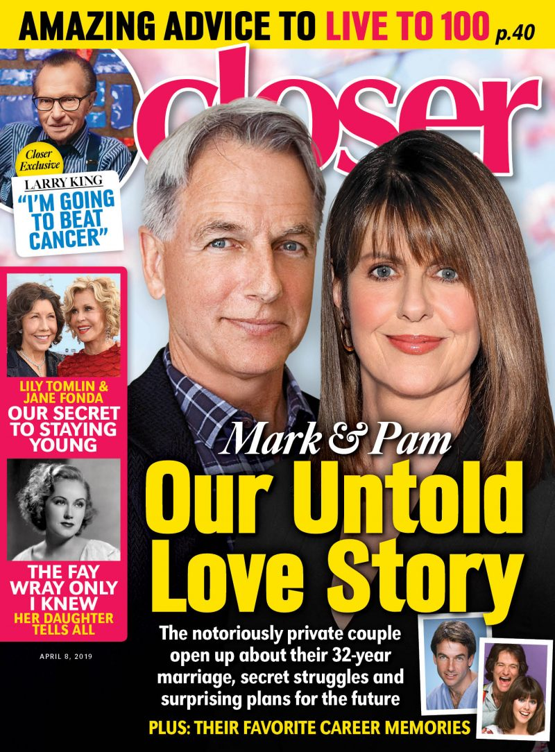 Mark Harmon and Pam Dawber on the cover of Closer Weekly