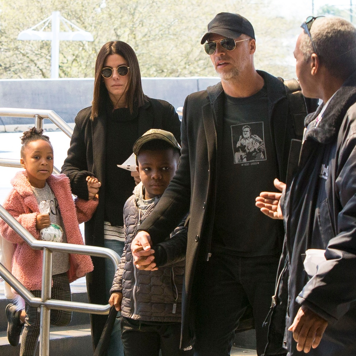 Sandra Bullock Steps Out With Her Rarely Seen Kids in New