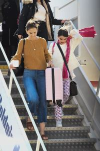 Katie Holmes at Mytilini airport