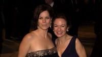 Marcia Gay Harden and mother Beverly Harden attend 2002 Vanity Fair Oscar Party