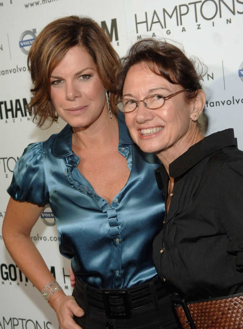 Actress Marcia Gay Harden and her mother Beverley Harden at the Hamptons Magazine launch party for the new Manhattan Volvo