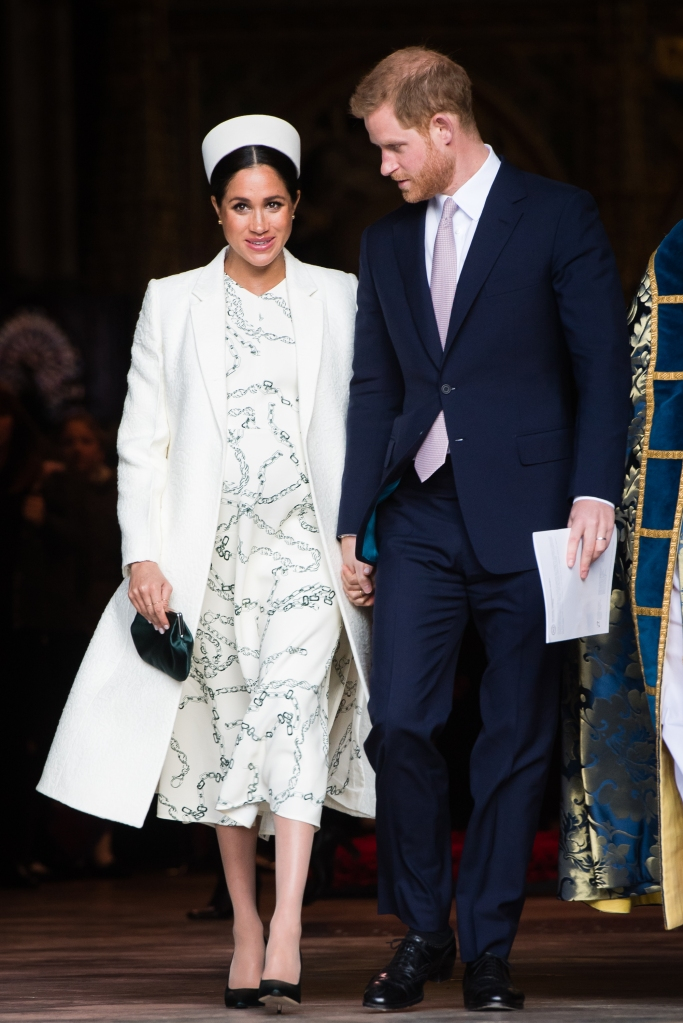 Prince Harry, Duke of Sussex and Meghan, Duchess of Sussex attend the Commonwealth Day service at Westminster Abbe6 on March 11, 2019 in London, England.