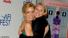 "Felicity Huffman and Nicollette Sheridan during AFI Fest 2005 Screening of ""Transamerica"" - Arrivals at Arclight Hollywood Cinerama Dome"